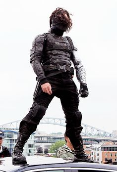 Bucky.  Wardrobe gets my undying devotion. Marvel sure knows how to develop a beautiful villain.