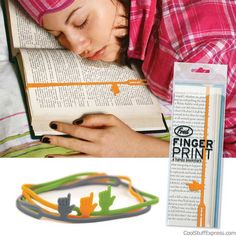 Fingerprints Bookmarks By Fred And Friends - exactly what I need !