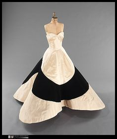 Vintage Ball Gown. Such a cool shape of skirt. such a dramatic dress
