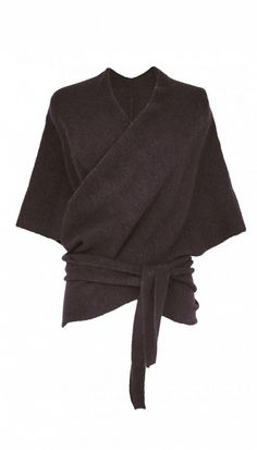Tibi Knit Convertible Shawl in Walnut