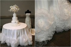 www.IDoLinens.com #wedding #caketable