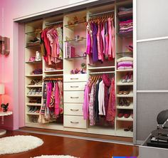 Love this!! Closet designed for teenager by California Closets. Design would work for anyone ~~`