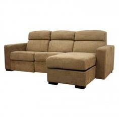 Baxton Studio Holcomb Tan Microfiber Reclining Sectional with Storage Chaise $986.00 #ZoostoresPin2Win
