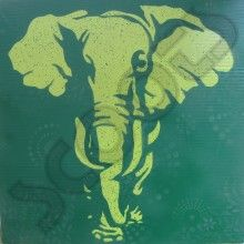 Elephant Stencil Art Painting