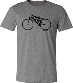 735f31a2 Bicycle T-shirt-PEDAL-Modern Road Bike T-Shirt-Grey, Road Bicycle t-Shirt, Cycling  t shirt, bike gift, gifts for cyclists,Bike tee