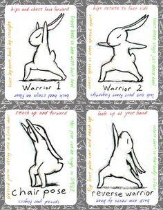 Bunnyoga Cards by Brian Russo | Teachers Pay Teachers