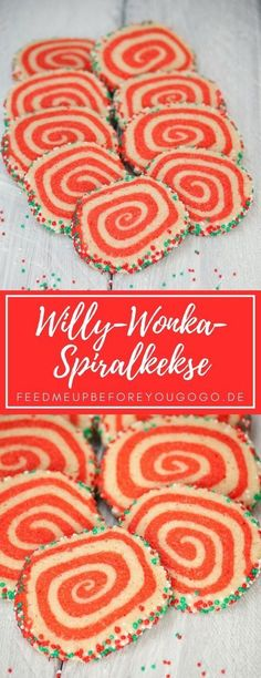 Bunte Spiralkekse Willy-Wonka-Style / Rezept // Feed me up before you go-go