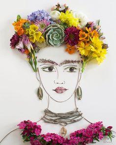 Flower face print