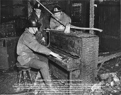 "Fire at Duniway School, Portland, Oregon, June 14 1949, Smokey Thompson at piano playing ""Don't Let The Smoke Get In Your Eyes"". (And a very Hot Piano)"