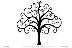 Muurstickers van zelf aangeleverde tekening - Tanja's boom