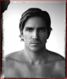 I love Jim Caviezel… kn  eyesofwitt:    CAPTIVATING  (From Russo's Book Titled 'About Face', published 2/1/10, all black & white celebrity photos shot in natural light with polaroid 55 film)