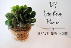 1 -DIY rope planter