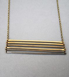 Ombre Brass Ladder Necklace | Jewelry Necklaces | Crow Jane Jewelry | Scoutmob Shoppe | Product Detail