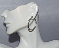 10 Gauge .999 Fine Silver Hoop Earrings by SilverSunStudio on Etsy