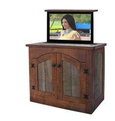 rustic TV lift cabinet, rustic cabinet, Adirondack  http://customrusticfurniture.com/Rustic-Cabinets/item3358.html