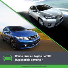 Dois sedãs consagrados no mercado disputam a preferência dos consumidores. Honda Civic e Toyota Corolla, ambos na linha 2015, estão cheios de novidades e podem ser adquiridos pelo Consórcio de Automóveis. Acesse nossa matéria e escolha o seu: https://www.consorciodeautomoveis.com.br/noticias/honda-civic-ou-toyota-corolla-qual-o-melhor-modelo-2015?idcampanha=206utm_source=Pinterestutm_medium=Perfilutm_campaign=redessociais