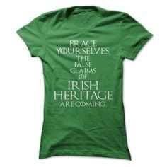 Brace Yourselves Game Of Thrones Themed T Shirt, Irish Heritage T Shirt, Birthday Gift. Check this shirt now: http://www.sunfrogshirts.com/Brace-Yourselves-Game-Of-Thrones-Themed-T-Shirt-Irish-Heritage-T-Shirt-Birthday-Gift-Ladies.html?53507