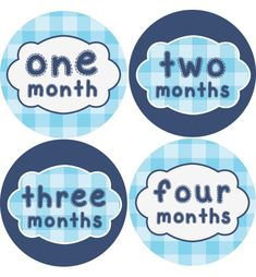 Sew Crafty Baby Month Stickers Boys