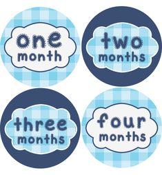 Sew Crafty Baby Month Stickers Boys