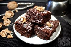 Roasted Walnut Brownies - Sweets - The Lotus and the Artichoke