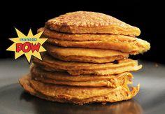 Protein Pow: Pumpkin Protein Pancakes with Vanilla Protein Ice Cream and Dark Chocolate!