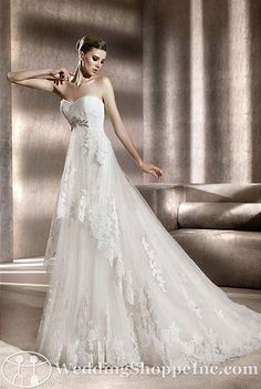 Pronovias Bridal Gown Bergamo from the Wedding Shoppe, http://www.weddingshoppeinc.com