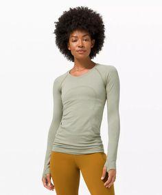 Swiftly Tech Long Sleeve 2.0   Women's Long Sleeve Shirts   lululemon Long Sleeve Tops, Long Sleeve Shirts, T Bag, Amazing Race, Lululemon, Tech, Slim, Sleeves, How To Wear