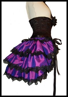 Burlesque Bustle Skirt Gothic Victorian Moulin by lovechildboudoir, $75.00