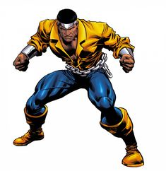 """This week's entry is classic Marvel hero Luke Cage, also known as """"Power Man."""" Luke first appeared in """"Luke Cage, Hero For Hire"""" (June Marvel Dc Comics, Heros Comics, Marvel Comic Books, Comic Book Characters, Marvel Art, Comic Book Heroes, Marvel Heroes, Marvel Characters, Comic Character"""
