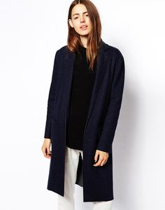 Navy fitted coat