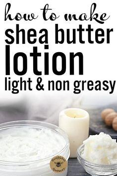 Honey Recipes, Soap Recipes, Deodorant Recipes, Shea Butter, Body Butter, Lotion Recipe, Natural Beauty Recipes, Be Natural, Lotion Bars
