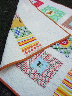 Baby I Spy quilt, with a very contemporary feel