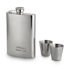 Personalized Textured Flask Set Gift by Things Remembered. $35.00. BUY ONE, GET ONE 50% OFF See all stylesWith this fun flask set, you re always set up to enjoy a round with your favorite party companion. It comes with a full-size flask and a pair of matching shot glasses, all featuring a unique etched textured pattern that looks great to the eyes and feels great in the hands. Engrave it with a fun, personal message for all your close friends, and they ll know it s party time. - ...