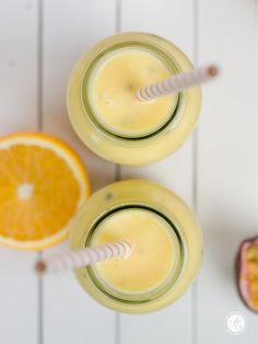 Smoothie-Montag 13: Mango-Maracuja-Orange Smoothie mit Kokosöl – feiertäglich…das schöne Leben