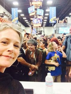 """carol-on:  """"It's carol-on!"""" she said. THIS IS IT. I CAN LEAVE COMIC-CON, I NEED NOTHING MORE FROM THIS PLACE. I NEED NOTHING MORE FROM LIFE TBH."""