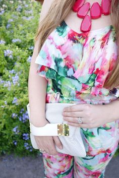 Anthropologie Floral Jumpsuit | Beauty and the Binky blog: