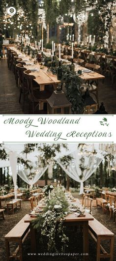 Top 60 Most Ethereal Redwood Forest Wedding Ideas to Take Your Breath Away---moody greenery wedding tables with candles, vintage wedding themes. Wedding Top 60 Most Ethereal Redwood Forest Wedding Ideas Wedding Spot, Vintage Wedding Theme, Wedding Themes, Wedding Table, Wedding Flowers, Dream Wedding, Wedding Advice, Wedding Veils, Spring Wedding