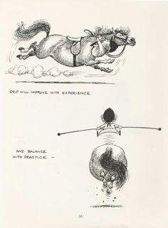 Thelwell's Funny Horse Pony and Rider Original Vintage Art Cartoon Print Vintage Prints, Vintage Art, Horse Cartoon, Riding Quotes, Cartoon Books, Funny Horses, Horse Quotes, Beautiful Horses, Pretty Horses