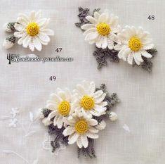 Букетики цветов. Вязаные крючком украшения (11)