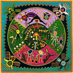 — Huichol yarn and bead art. In traditional Huichol...