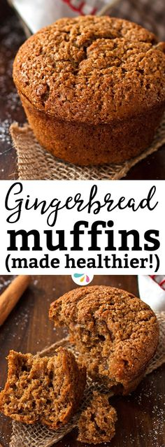 This easy Healthy Triple Ginger Gingerbread Muffin recipe yields amazing bakery-style results! You will love these because they are quick to make, require only one bowl and no electric mixer and contain no butter or white sugar! The best healthy holiday recipe! Make them for Christmas morning or for any holiday brunch party you're headed to - people will love these. | #recipes #christmas #gingerbread #christmasrecipes #christmasfood #brunch #healthyfood #healthyrecipe #healthyeating…