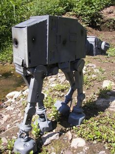 Etsy artist TGNSmith has created a realistic replica of the iconic Imperial Walker out of various recycled computer parts and other scrap metal pieces.