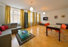 We provide an outstanding level of service and high quality serviced apartments since delivering value, comfort and convenience for our guests. Serviced Apartments, Modern Apartments, Bratislava, Comforters, Curtains, Living Room, 1, Home Decor, Environment