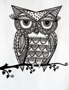 buho zentangle art - Buscar con Google