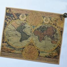 Vintage known world map vintage ocean travel posters dont know ancient world map kraft paper sticker chart poster gumiabroncs Choice Image