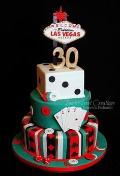 Vegas themed cake by for all your decoration supplies please visit casino theme las birthday toppers Las Vegas Cake, Las Vegas Party, Casino Night Party, Vegas Theme, Vegas Casino, Casino Party Decorations, Casino Party Foods, Casino Theme Parties, Casino Royale
