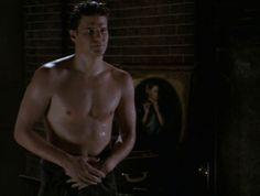 David Boreanaz as the vampire Angel in Buffy the Vampire Slayer