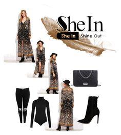 """Kimono shein"" by mscrispkia ❤ liked on Polyvore featuring Boohoo, Wolford and ALDO"