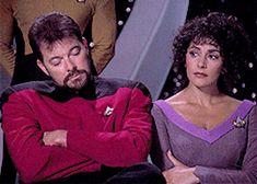 Star Trek Books, Star Trek Characters, Star Trek Enterprise, Star Trek Voyager, Star Trek Gif, Star Trek Universe, Marvel Universe, Marina Sirtis, Firefly Serenity