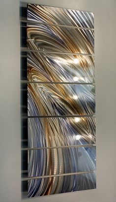 New Contemporary Metal Wall Art Abstract Gold by statements2000